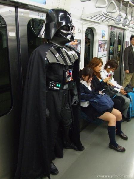 Darth Vader dans le métro