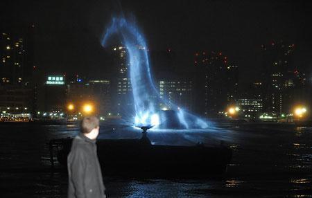 Nessie dans l'eau